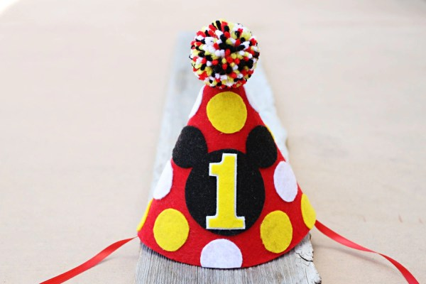Mickey Mouse 1st Birthday Hat Boys Felt Party