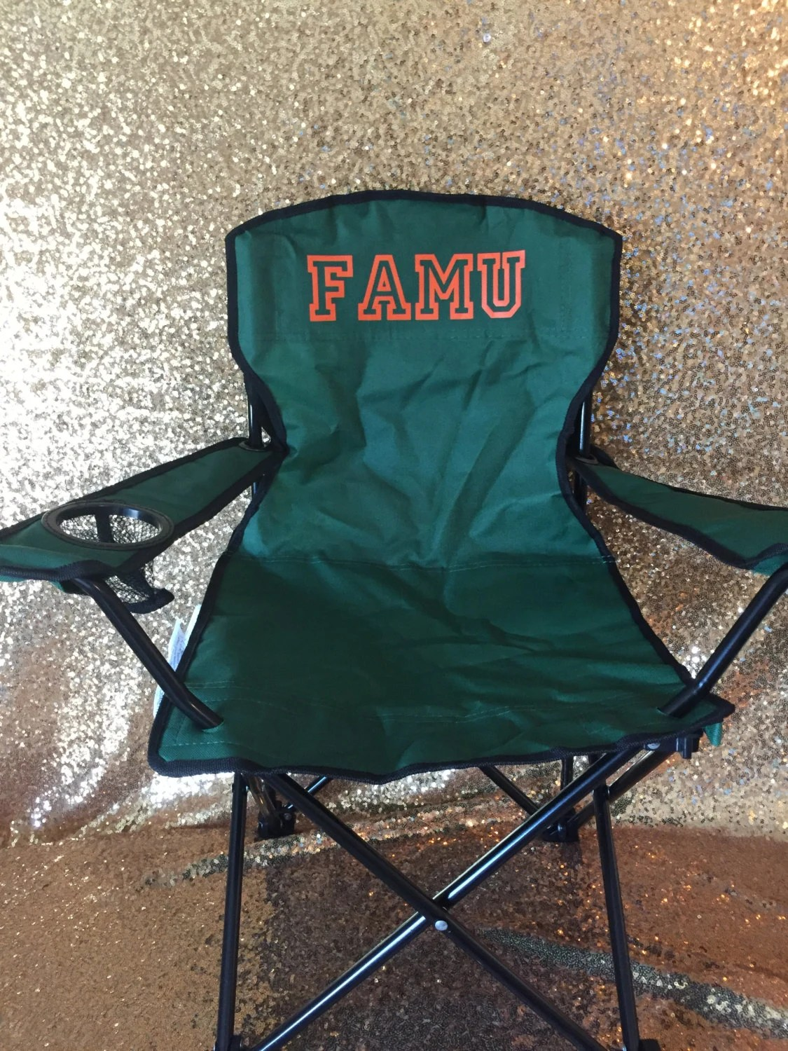 monogrammed toddler chair white wedding chairs for bride and groom famu folding camp with carrying bag