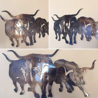Texas Longhorns Metal Wall Art Decor by Cre8iveMetalDesigns