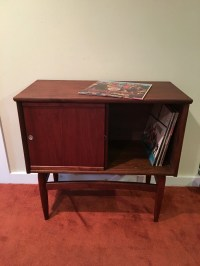 Mid Century Modern Record Cabinet Wood Record Cabinet with