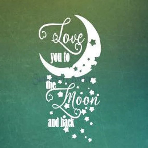 Download Love you to the Moon and back SVG by SundersenCreations on ...