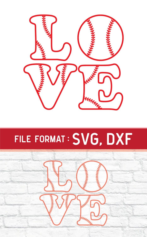 Download SVG Love Baseball Monogram, Cricut Files, Vinyl Cutters ...