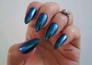 chrome nails pointy acrylic