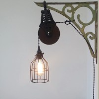 Industrial Pulley Sconce Wall Mount Light by UrbanAnalog ...