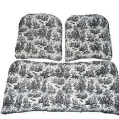 2 Pc Rocking Chair Cushions Costco Leather Dining Chairs Toile – Etsy