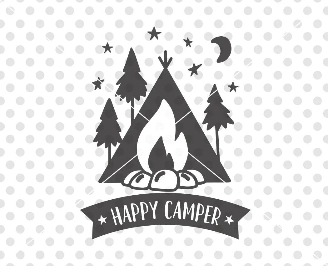 Happy Camper Svg Dxf Cutting File Camper Svg Cutting File