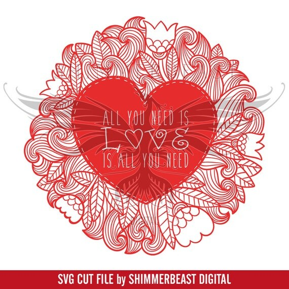 Download All You Need Is Love Mandala svg | Valentines svg ...