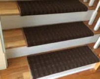 Wingtip Brown - TRUE Bullnose™ Carpet Stair Tread – Grand Central - Beaulieu - Scotchgard™ - Pet - Odor Eliminator -Magic Fresh® (Sold each)