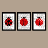 LADYBUG Wall Art Lady bug Nursery Baby Girl Nursery Wall Art