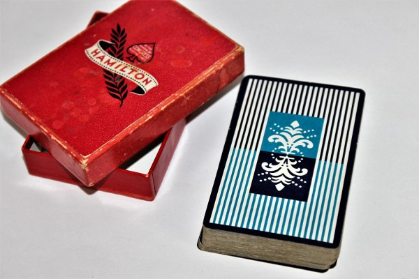Vintage Deck Of Wwii 1940s Hamilton Congress Playing Cards