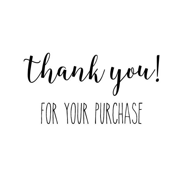 Thank You Purchase Stamp packaging stamp envelope stamp