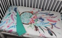 Dream Catcher Baby Girl Bedding Feather Baby Girl Bedding
