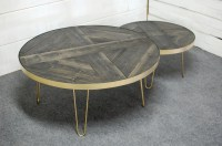 Round Nesting Tables Mid Century Coffee by sumsouthernsunshine