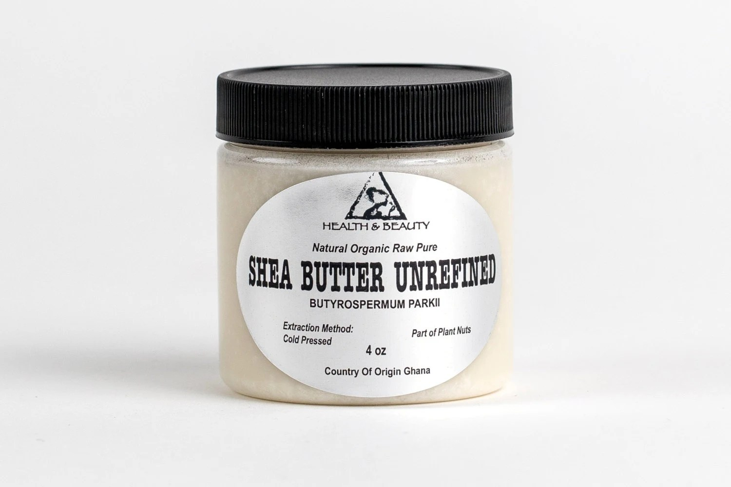 4 oz SHEA BUTTER UNREFINED Ivory White Organic Raw Cold