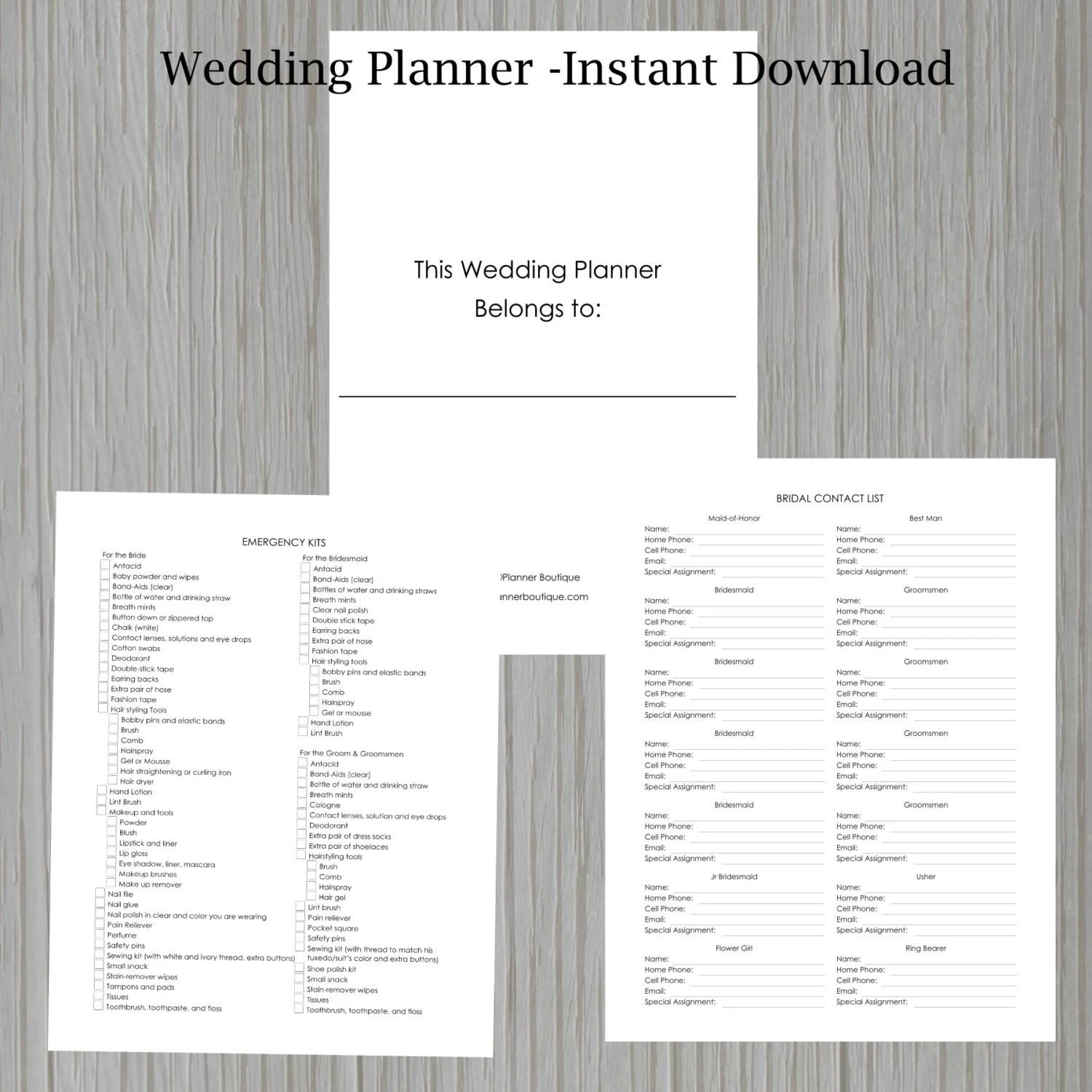 Wedding Planner Instant Download