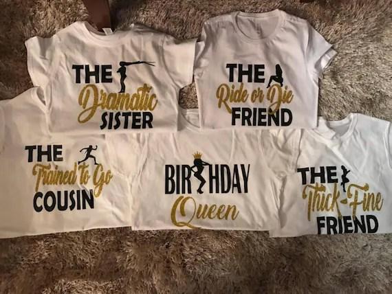 Birthday Squad Shirts Birthday Girl Friend Squad Birthday