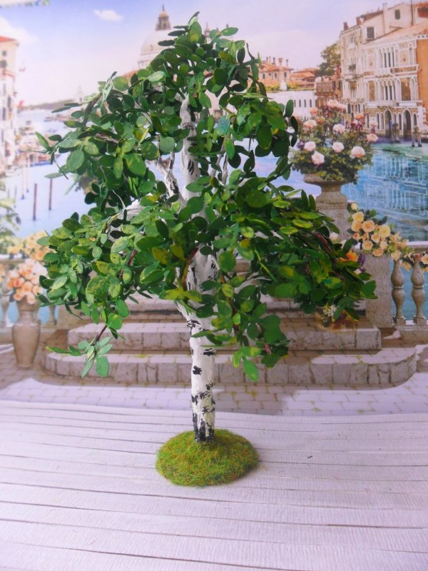 birch. tree garden. dollhouse