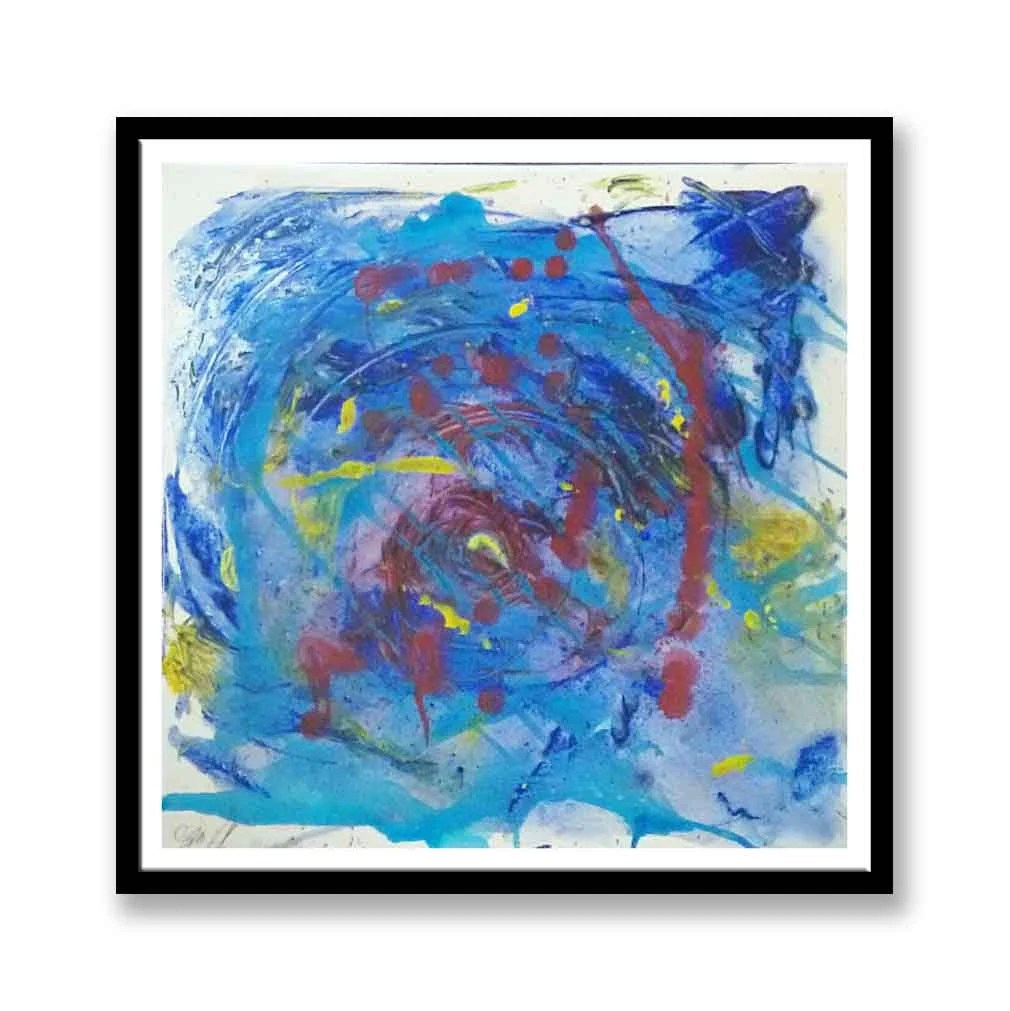 Blue Abstract Acrylic Pai...