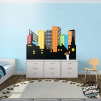 Gotham City wall Decal City Skyline Decal Superhero City