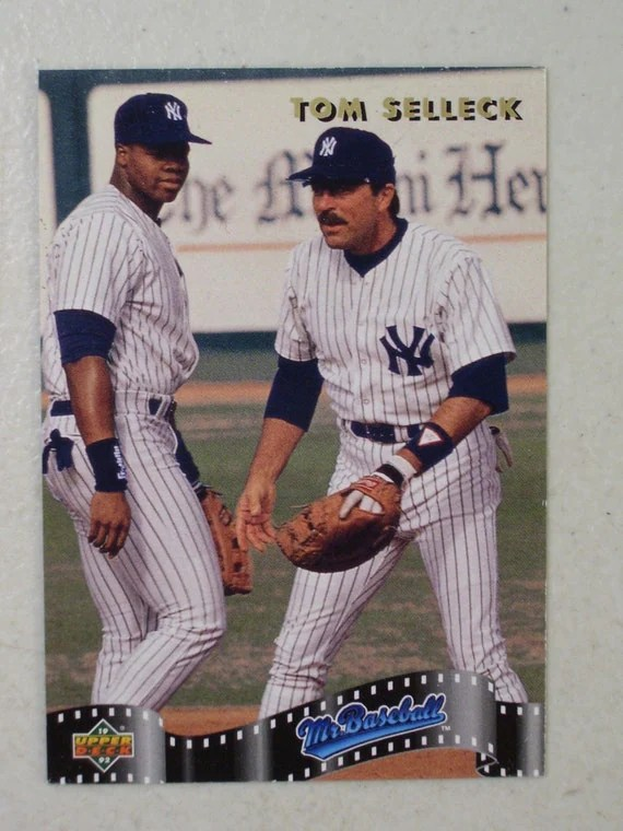 Vintage Tom Selleck Mr Baseball Trading Card SP4 1992 Upper
