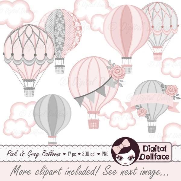hot air balloon baby shower digital