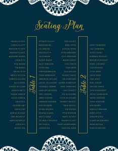 Long table wedding seating chart printable navy and gold plan reception signs also rh spotfondp