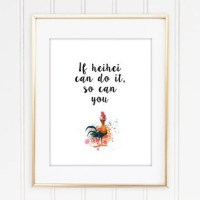 girls room decor disney moana kids wall art child bedroom