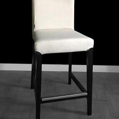 Custom Chair Covers Ikea Outdoor Wicker Rocking Canada Pair Of Linen Henriksdal Bar Stool