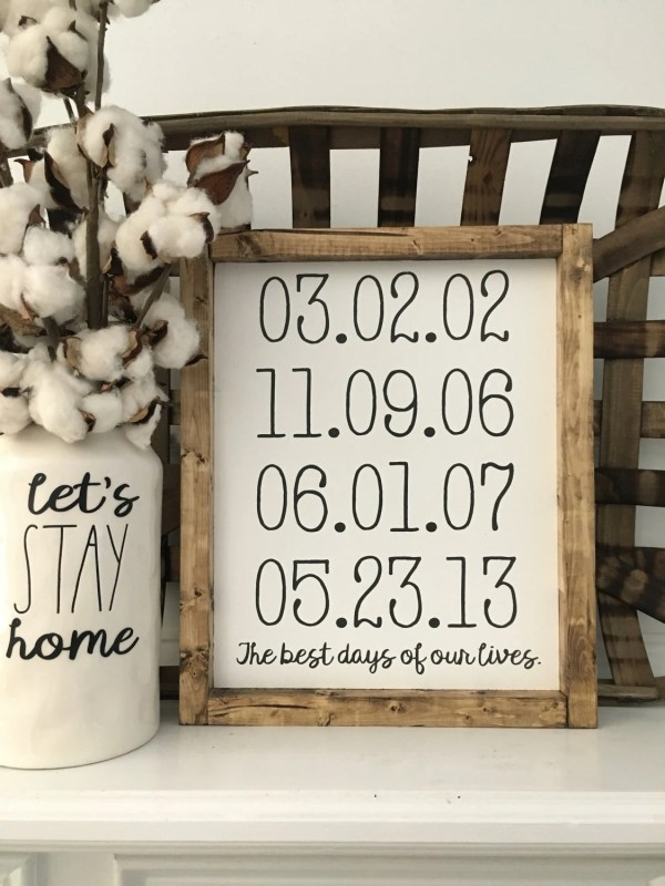 Days Of Lives Personalized Dates Family Wood