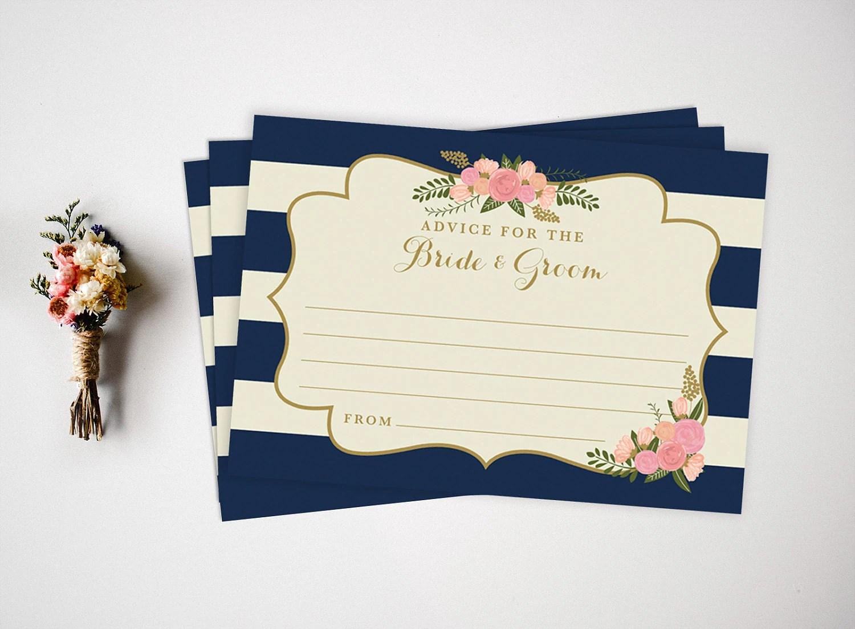 Printable Advice Cards Wedding Advice Cards Wedding Guest