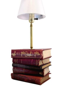 Book Lamp Table Lamp Made with Books Bookish Home Decor