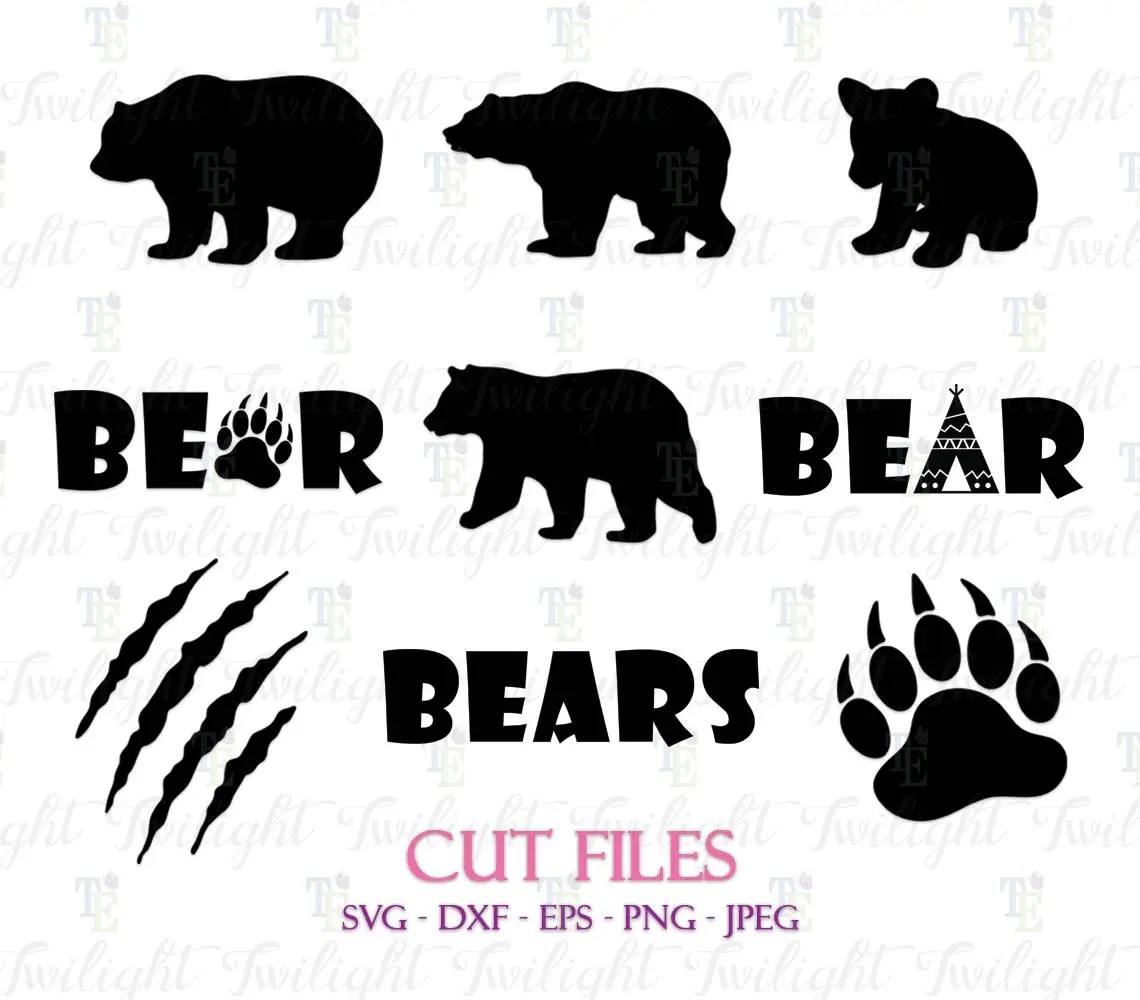 Bear Cut Files Bear Claw Cut Files Bear Paw Cut Files