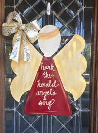 Christmas angel door sign Christmas door hanger Angel door