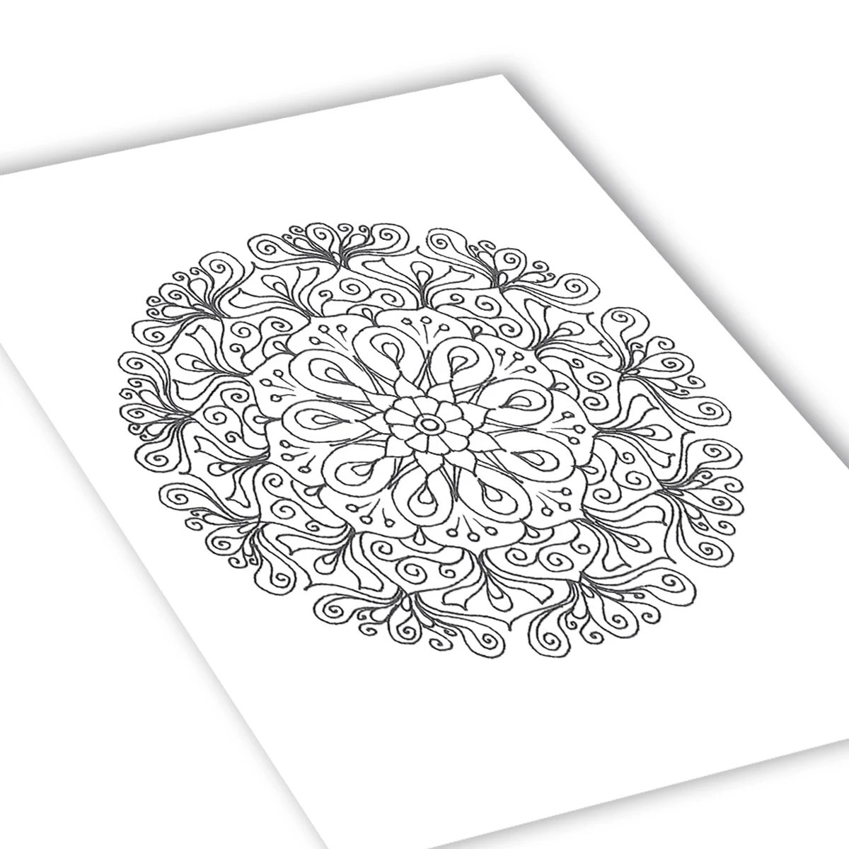 Floral Mandala for success Coloring page Printable adult