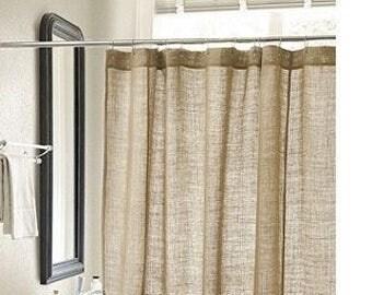 Burlap shower curtain  Etsy