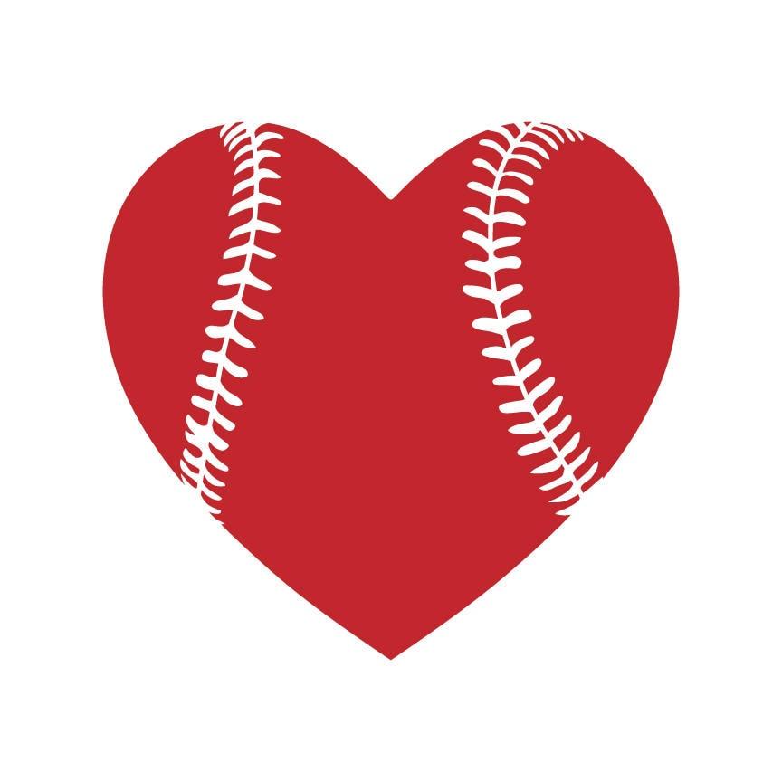 Download Baseball heart svg Baseball love svg Baseball svg files ...