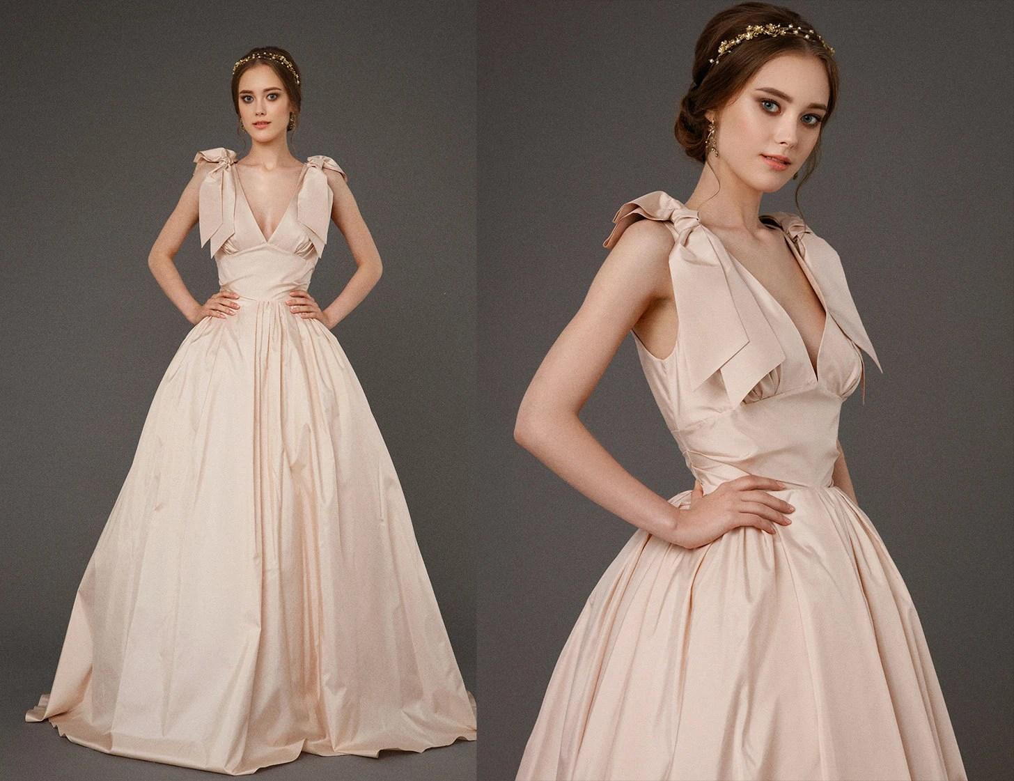 EVA / Taffeta Pink Wedding Dress Ball Gown Wedding Dress With