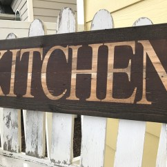 Wooden Signs For Kitchen Chinese Accessories Distressed Sign Red Brown