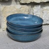 Pottery Bowls set of four handmade pasta bowls