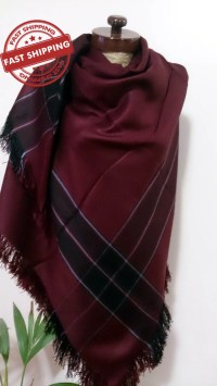 Burgundy Blanket scarf blanket scarf plaid scarf Winter