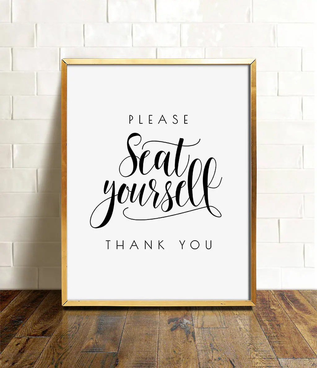 Please seat yourself Bathroom wall decor PRINTABLE art