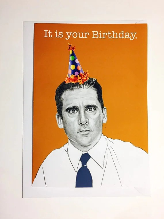 Michael Scott US Office Illustrative A5 Birthday Card