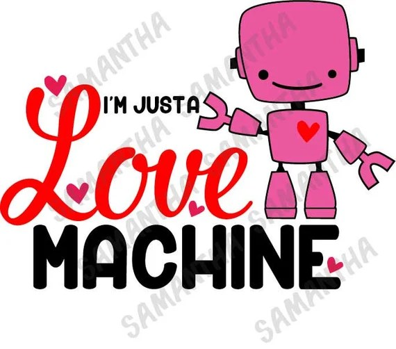 Download I'm just a love machine Valentines Day Cameo Cricut cut ...