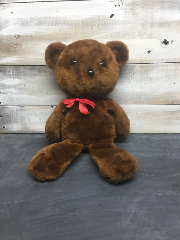 Vintage Knickerbocker Teddy Bear with Red Bow