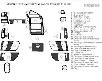 Nissan 350 Z 350Z GT 2003 2004 2005 Premium Interior Set