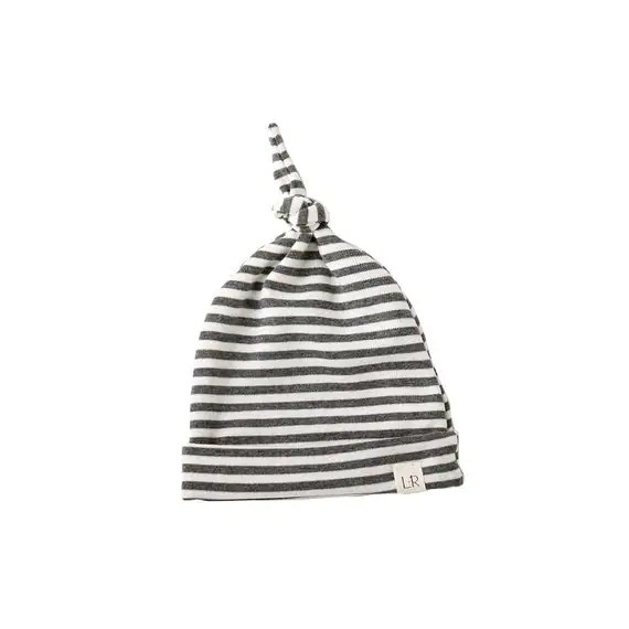 Knotted Hat gray stripe beanie baby boy toboggan slouchy