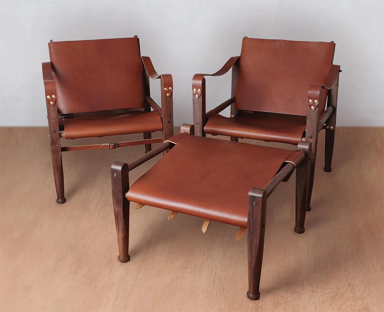 leather safari chair light grey slipper lounge accent