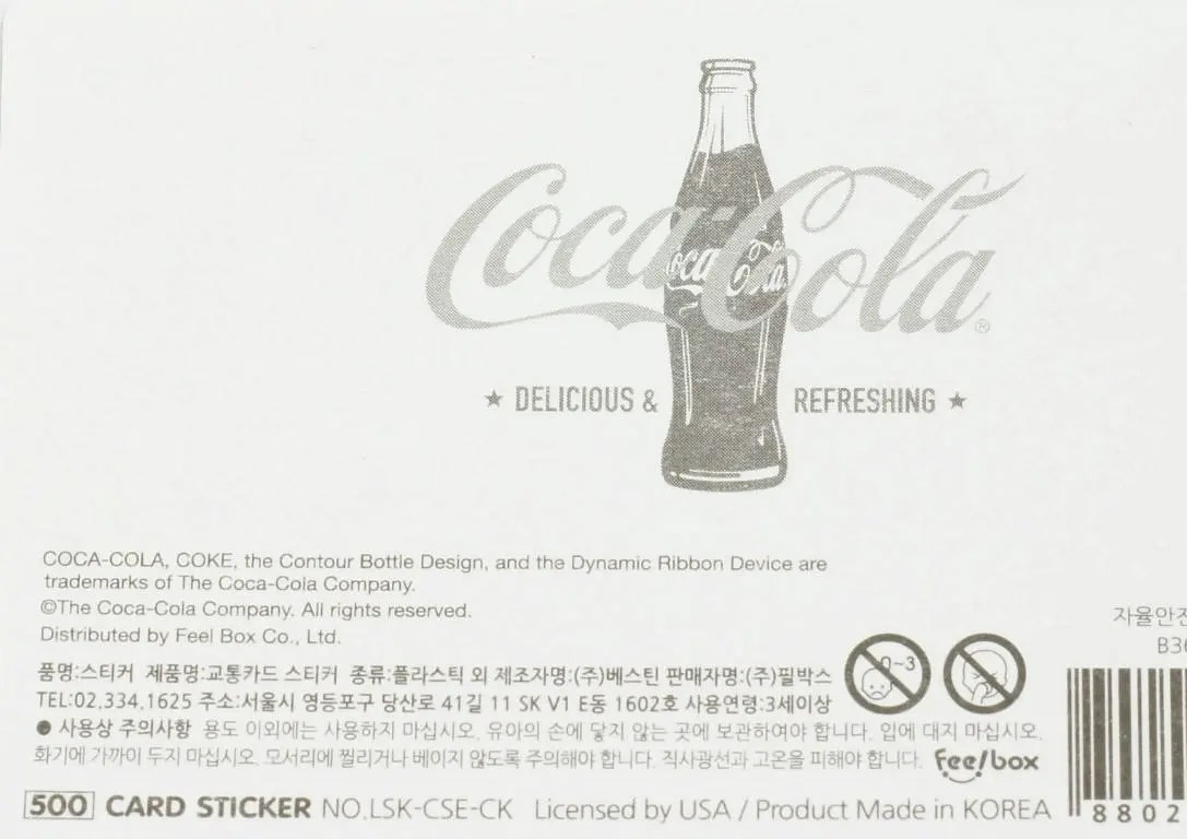 DIY Classic Coca Cola Name Card size Sticker with lady