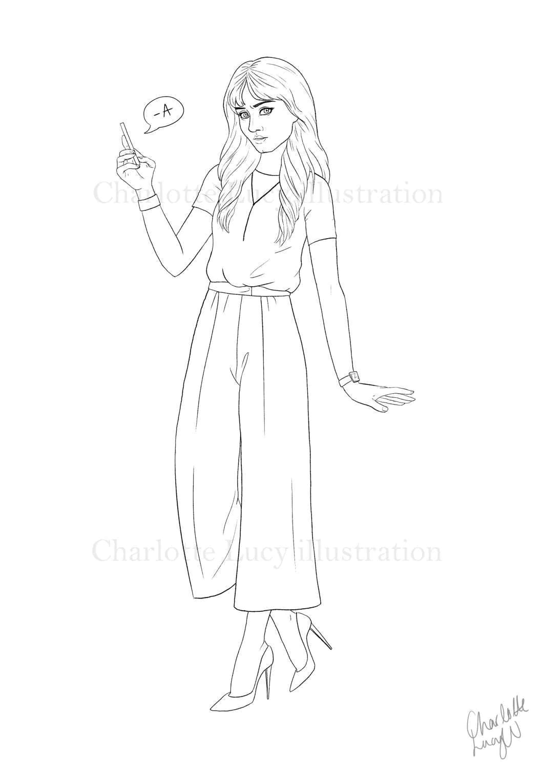 SPENCER, colouring page instant download, Pretty Little