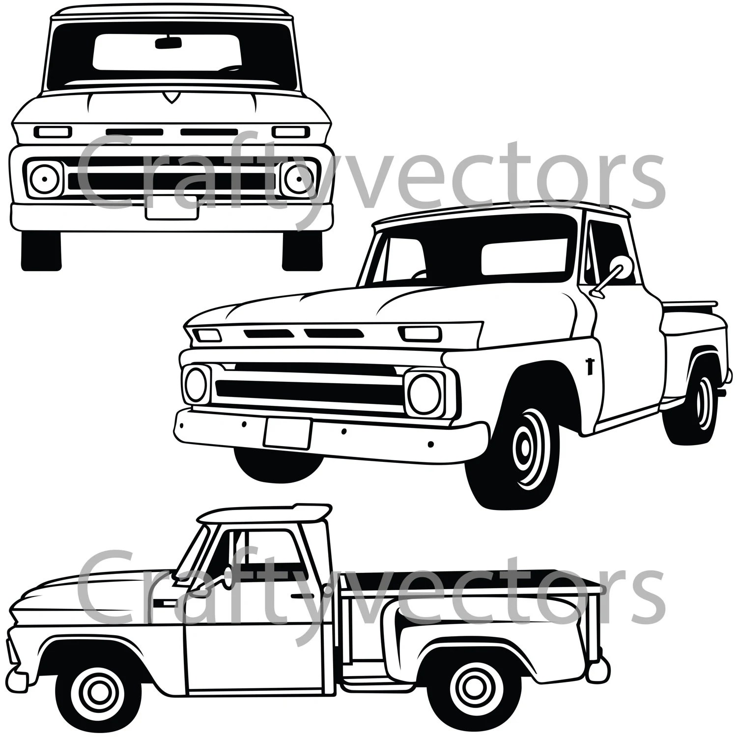 Chevy C10 Stepside Vector File